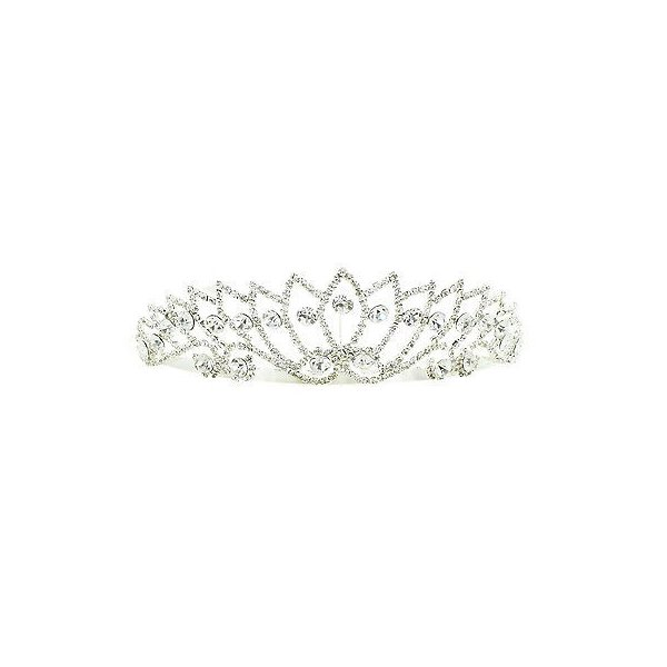 ファッション アクセサリー 女性 アクセサリー ヘアアクセサリー Kate Marie 'Adina' Rhinestone Crown Tiara Headband