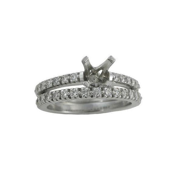 ジュエリー 婚約 結婚式 ブライダル ウェディングパーティージュエリー 14k White Gold 3/5ct TDW Diamond Wedding Set (No Center Stone)