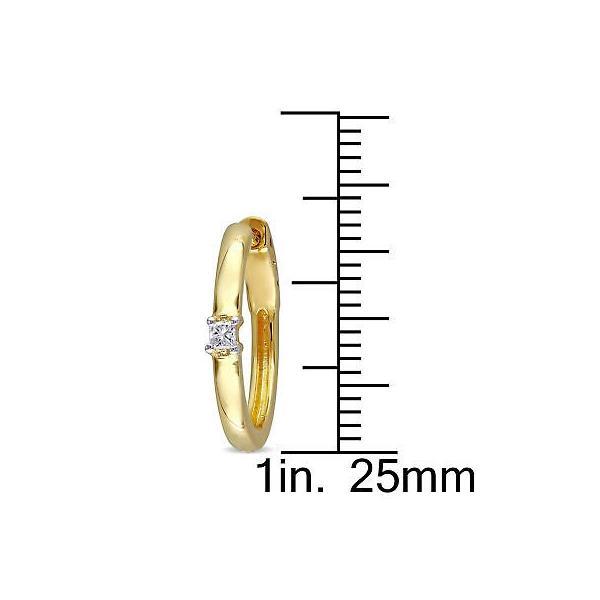 ミアドラ ダイヤモンド Miadora 10k Yellow Gold 1/10ct TDW Diamond Hoop Earrings White