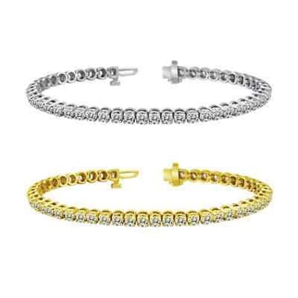 ダイヤモンド 海外セレクション 14k Gold 6ct TDW Diamond Tennis Bracelet