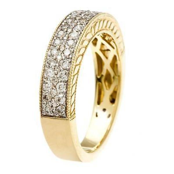 ソフィア ダイヤモンド  Sofia 14k Yellow Gold 1/2ct TDW Pave Diamond Band