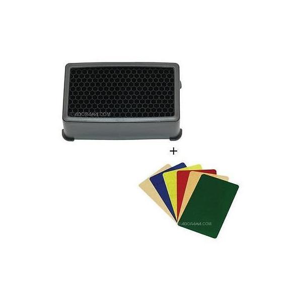 カメラ 写真 点滅 フラッシュ アクセサリー フラッシュディフューザー Harbor Digital Quick Spot Small Grid for 580EXII No Gel #QSS-A15