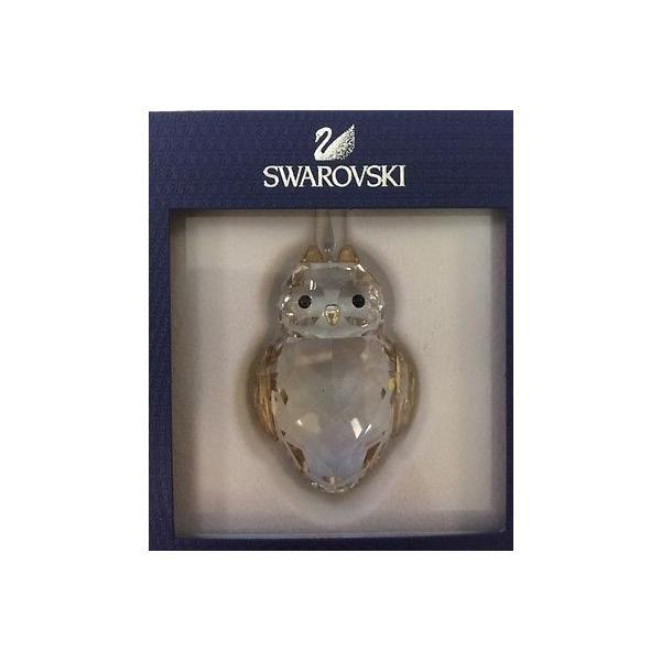 海外セレクション オーナメント クリスマス プレゼント ギフト 記念品 スワロフスキ クリスタル OWL オーナメント