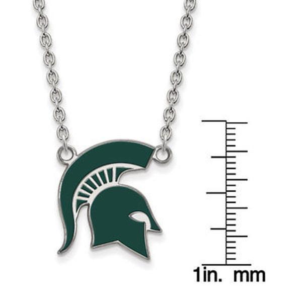 Sterling Silver Michigan Large Pendant by LogoArt University Of
