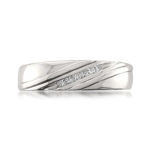 ダイヤモンド 宝石 モンテベロジュエリー Montebello Platinum Men's 1/5ct TDW Princess-cut White Diamond Wedding Band