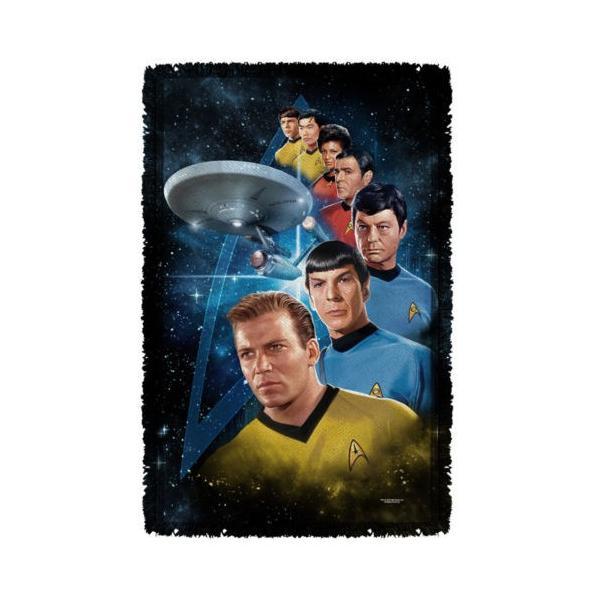 """スタートレック アフガン スロー ブランケット ソファー Star Trek クラシック Among The Stars ライセンス ブランケット 36"""" X 60"""""""