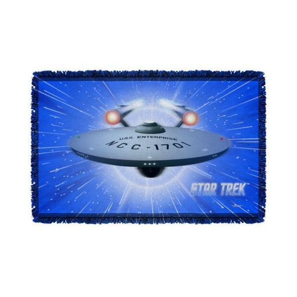 """スタートレック アフガン スロー ブランケット ソファー Star Trek クラシック Enterprise She Got It ライセンス ブランケット 36"""" X 60"""""""