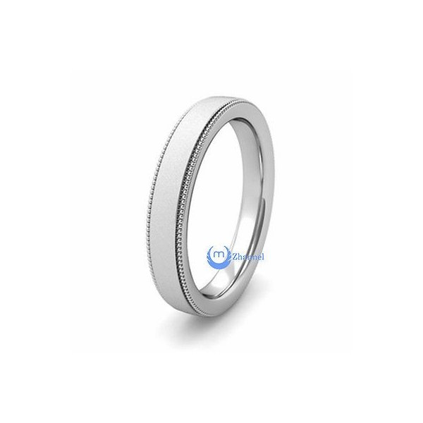 SS 4mm Comfort Fit Flat Size 12 Band Size 12 Length Width 4