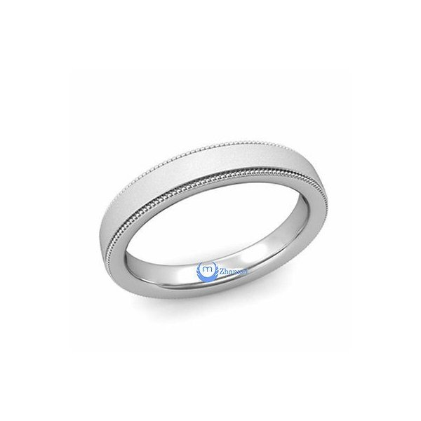 14K White Gold Milgrain Toe Ring