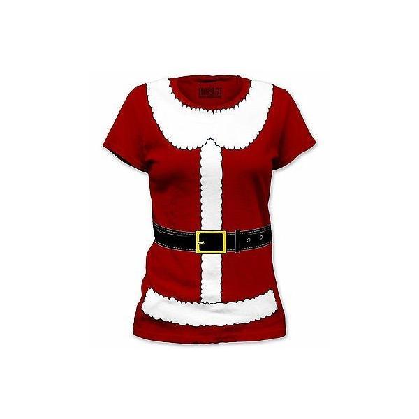 Junior Womens Red Santa Baby Christmas Holiday Sweatshirt