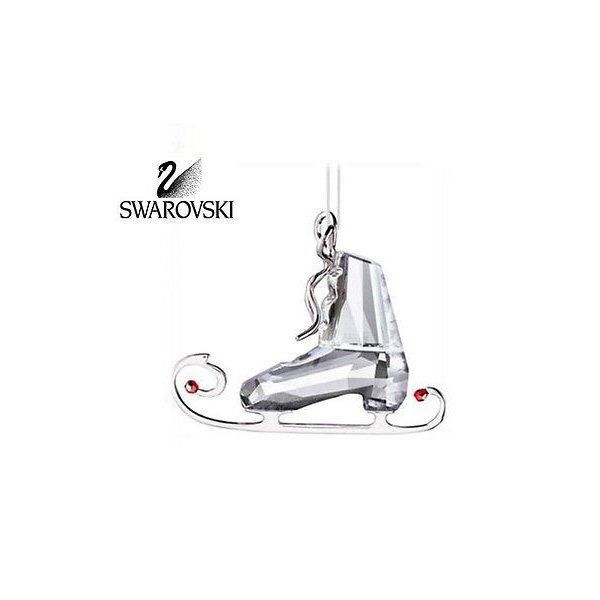 海外セレクション オーナメント スワロフスキ クリスタル Figurine クリスマス オーナメント ウインター スケート #1096033