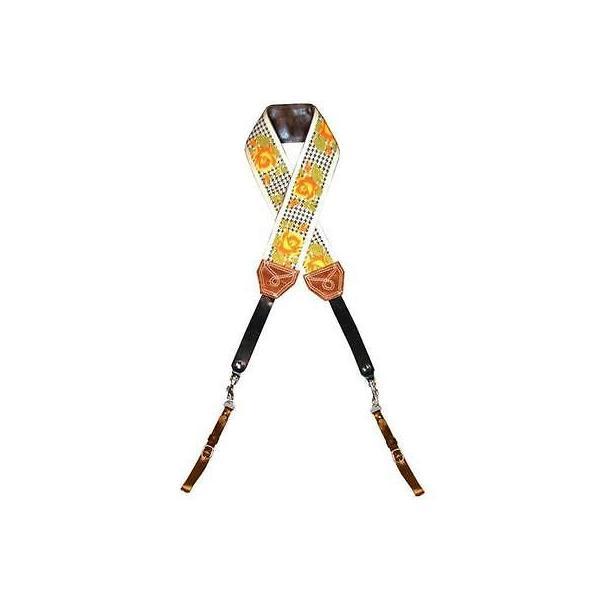 カメラ 写真 フォトアクセサリー ストラップ ハンドグリップ Heavy Leather NYC Yellow Rose Limited Edition Classic Strap #HLNYC.CAM.10