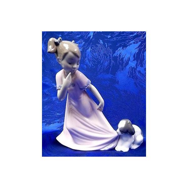 リアドロ LET ME GO GIRL ウイズ ドッグ SPECIAL エディション 2014 FEMALE FIGURINE NAO BY LLADRO #1829