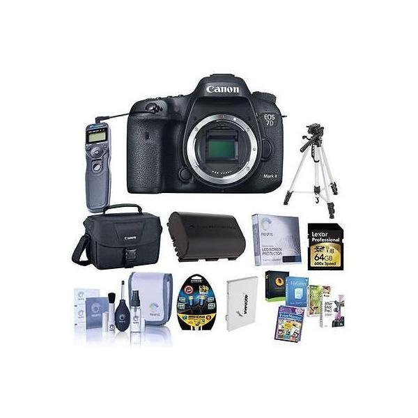 カメラ 写真 デジタルカメラCanon EOS 7D Mark II DSLR Camera Body with Premium Accessory Bundle #9128B002 B