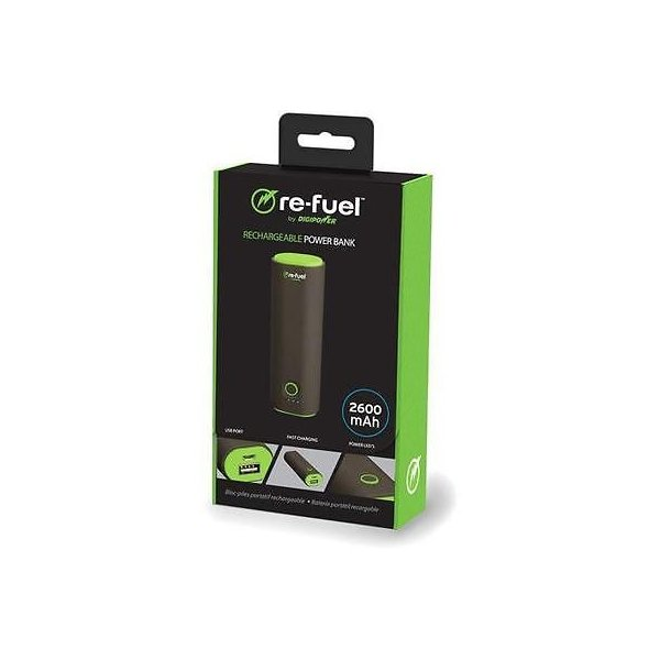 カメラ 写真 フォトアクセサリー 充電器 クレードルRe Fuel The Individual 2600mAh USB Rechargeable Power Bank Black #RF A26