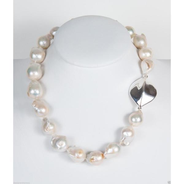 パール メットインジーンズ Simon Sebbag Sterling Silver Pendant White Pearl Necklace NB640EWP