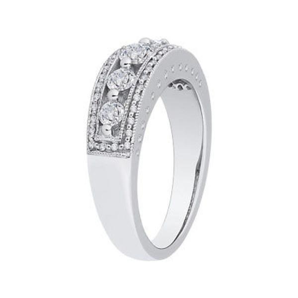 ダイヤモンド 宝石 アンブランデッド 14K White Gold 3/4ct TDW Diamond Wedding Band