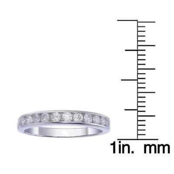 海外バイヤー厳選ブランド ダイヤモンド  14K White Gold 1/2 CT TDW Round Diamond Wedding Band - White G-H