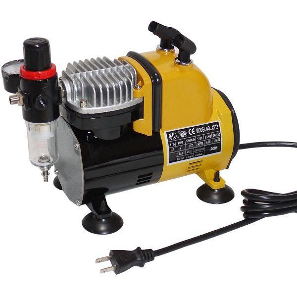 イリイ エアブラシ用コンプレッサー 減圧弁・水抜き付き静音タイプ TR-226EC