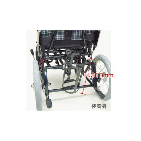 酸素ボンベ架台 内径132mm ティルティング&リクライニング車椅子KPFシリーズ用(車椅子と同時購入に限ります。) カワムラサイクル