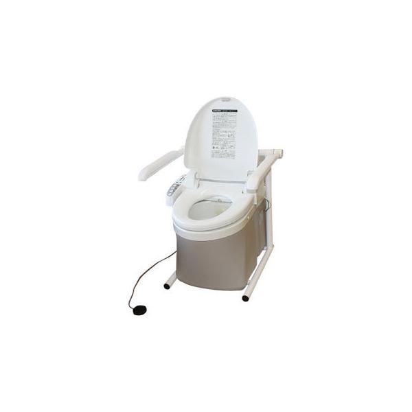 水洗式ポータブルトイレ 流せるポータくん3号 洗浄便座付タイプ SPF15-3-SB アム