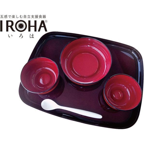 五感で楽しむ自立支援食器IROHA ライン春慶塗  iroha02s 基本セット 大成樹脂工業<br>介護 食器セット 介護用品 高齢者