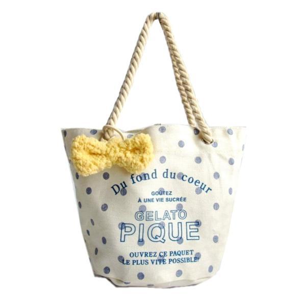 訳あり ジェラートピケ Gelato PIQUE ランチトート&ふわもこリボンゴム レディース バッグ トートバッグ 可愛い sweet|b01|panfamcom