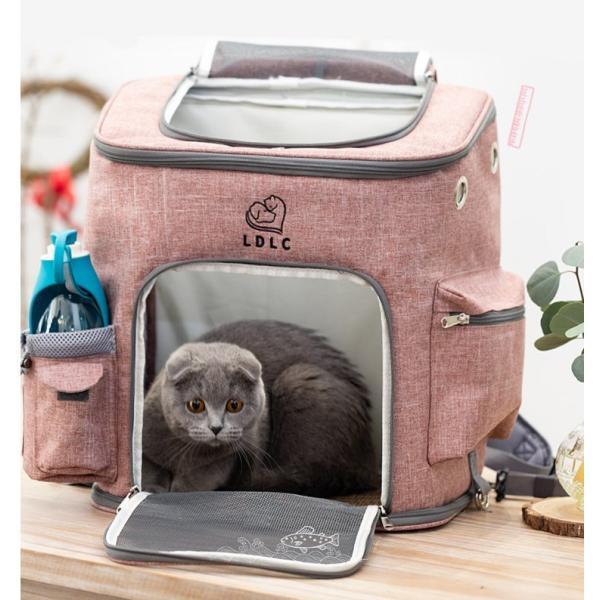 ペット キャリーバッグ リュック バッグ 猫 小型犬 ペットバッグ 大容量 多機能 便利 アウトドア お出かけ 持ち運び 散歩 通院 防災 避難 通気性|panni123|05