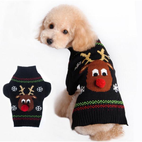 Panni 犬の服 クリスマス トナカイ セーター 秋冬服 ドッグウェア 4サイズ選択可能 panni123
