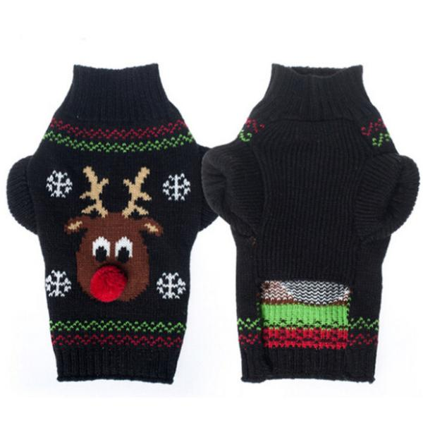 Panni 犬の服 クリスマス トナカイ セーター 秋冬服 ドッグウェア 4サイズ選択可能 panni123 06