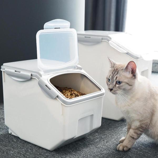 Panni ペット フードストッカー  犬 猫 専用ボウルつき 5kg 大容量 ABS PP 安心素材 スタンドつき panni123