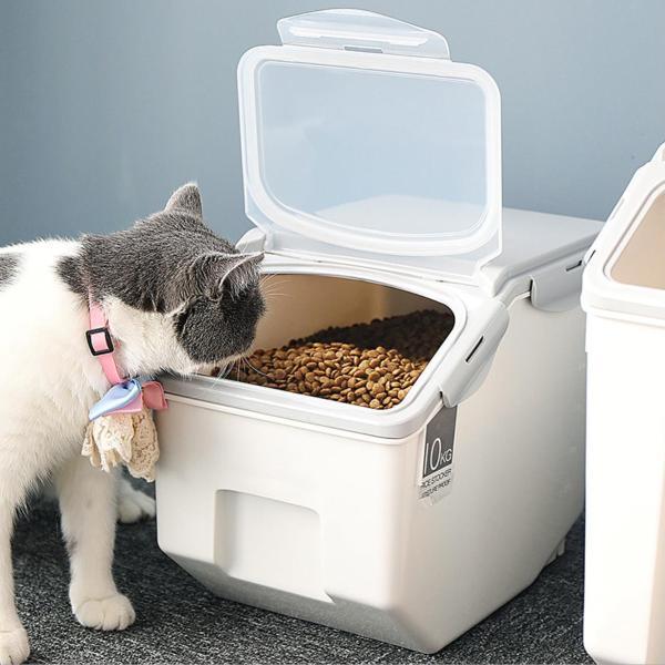 Panni ペット フードストッカー  犬 猫 専用ボウルつき 5kg 大容量 ABS PP 安心素材 スタンドつき panni123 06