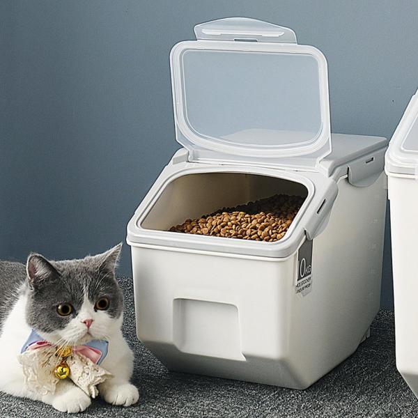 Panni ペット フードストッカー  犬 猫 専用ボウルつき 5kg 大容量 ABS PP 安心素材 スタンドつき panni123 07