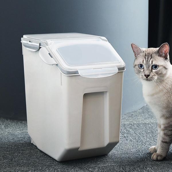 Panni ペット フードストッカー  犬 猫 専用ボウルつき 5kg 大容量 ABS PP 安心素材 スタンドつき panni123 08