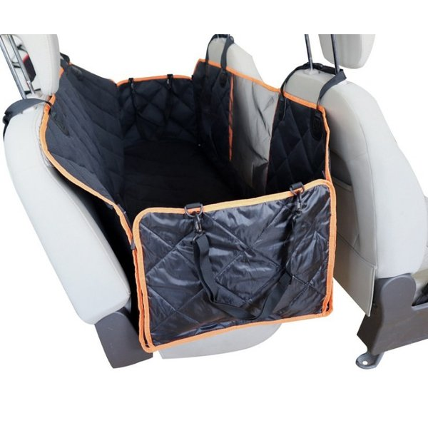 Panni ペットドライブシート 可視メッシュ窓付き  車用ペットシートカバー 後部座席用 防水 滑り止め 折り畳み 清潔簡単 車 シートカバー|panni123