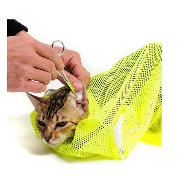 猫用 みのむし袋 おちつくネット シャンプー お風呂 爪切り 耳掃除 グルーミング 暴れない panni123