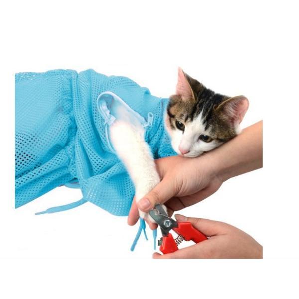 猫用 みのむし袋 おちつくネット シャンプー お風呂 爪切り 耳掃除 グルーミング 暴れない panni123 03