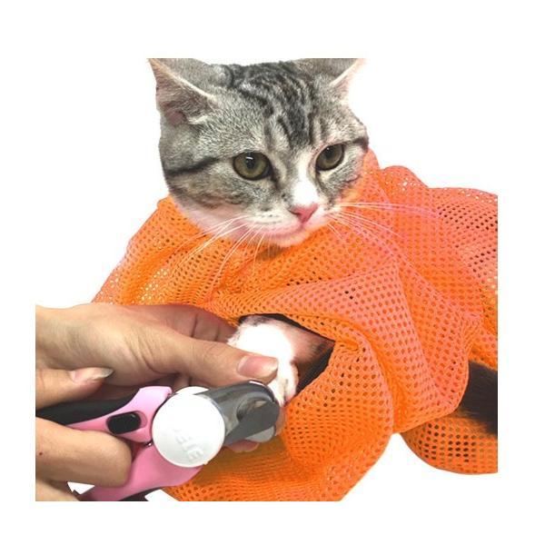 猫用 みのむし袋 おちつくネット シャンプー お風呂 爪切り 耳掃除 グルーミング 暴れない panni123 04