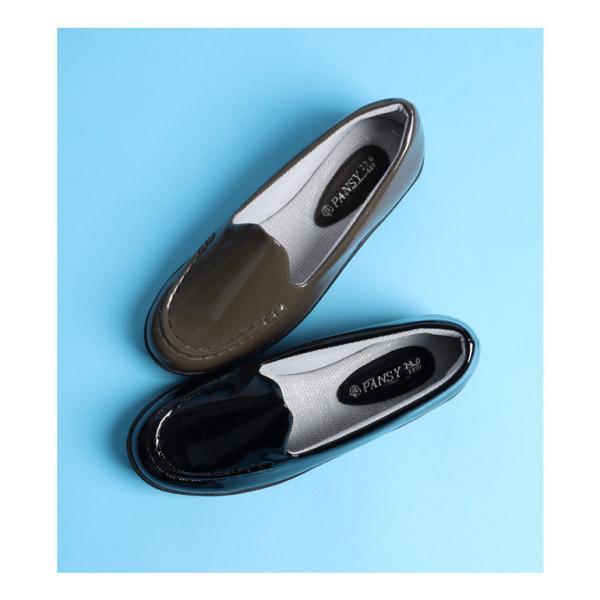 防水 レインシューズ 雨用 パンプス ローファー レディース 雨靴 靴 3E パンジー pansy 4935 pansystore 04