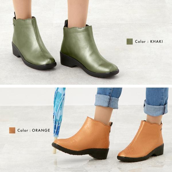 レインブーツ レインシューズ ショート 防水 長靴 雨靴 人気 おしゃれ 歩きやすい 履きやすい 靴 レディース 3E パンジー pansy 4906|pansystore|05
