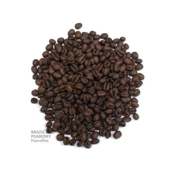 コーヒー豆・ブラジル・ピーベリー(200g)自家焙煎珈琲豆