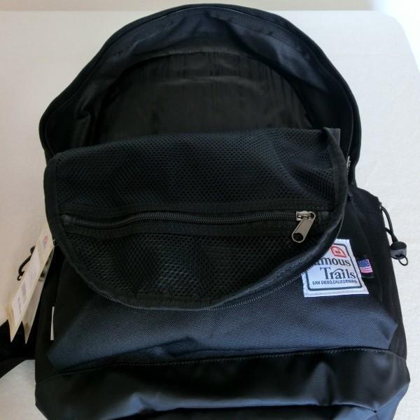 FamousTrails フェイマストレイル Dパックリュック FTCN500 ブラック PCポケット 7221 タブレット・モバイル収納、ウレタンバッドポケット  限定2個