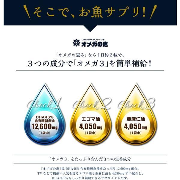 オメガ3 DHA EPA セサミンのサプリ GLP1 glp-1 『オメガの恵 60カプセル メール便』  青魚 亜麻仁油 エゴマ油 サプリメント 1000円ポッキリ|papamama|08