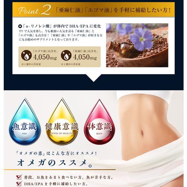 オメガ3 DHA EPA セサミンのサプリ GLP1 glp-1 『オメガの恵 60カプセル メール便』  青魚 亜麻仁油 エゴマ油 サプリメント 1000円ポッキリ|papamama|10