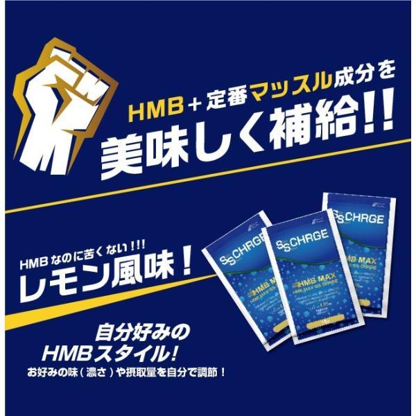 HMBのスポーツドリンク<30袋> HMB BCAA クエン酸 アルギニン クレアチン グルタミン 『HMB MAX SS CHARGE 30袋 』 プロテイン hmb 筋トレ|papamama|06