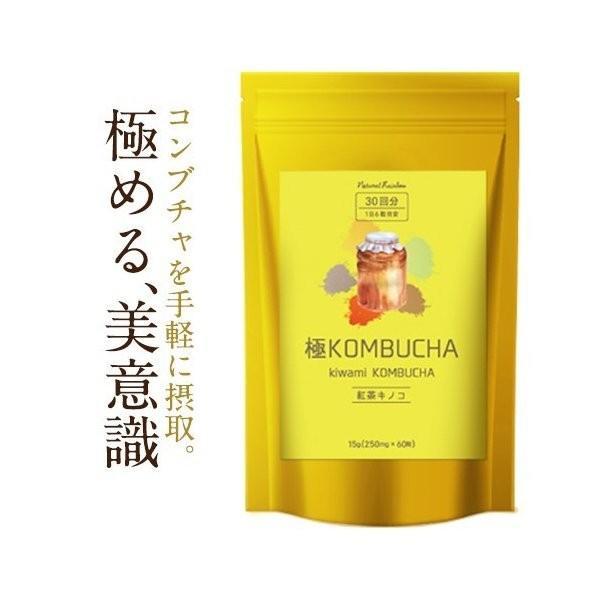コンブチャ 極KOMBUCHA 60粒 メール便 サプリ オリゴ糖 紅茶キノコ 紅茶 サプリメント|papamama