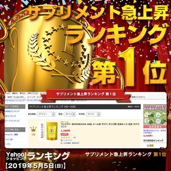 コンブチャ 極KOMBUCHA 60粒 メール便 サプリ オリゴ糖 紅茶キノコ 紅茶 サプリメント|papamama|11