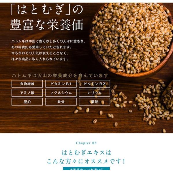 濃いハトムギエキス 90粒 メール便 栄養機能食品 papamama 06