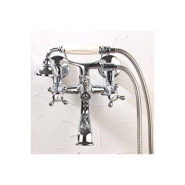 RoomClip商品情報 - 送料無料 2PCVSS シャワー水栓 JODEN クラシックテレフォンシャワーCH(クロム) バスルーム用混合栓|レトロクラシック調 ジョーデン水栓金具