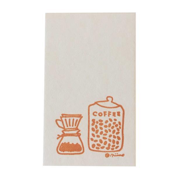 活版ミニメッセージカード niino コーヒーサーバー 10枚 (メール便出荷) 印刷紙 印刷用紙 松本洋紙店 敬老の日